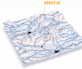 3d view of Hrastje