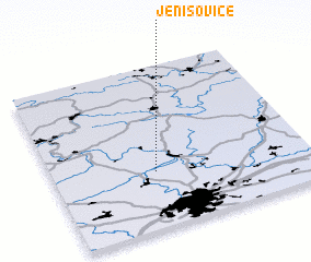 3d view of Jenišovice