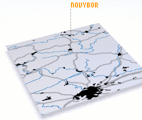 3d view of Nový Bor