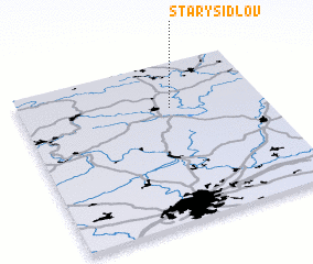 3d view of Starý Šidlov