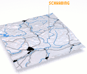 3d view of Schwabing