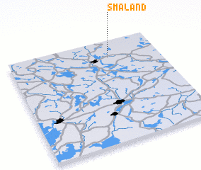 3d view of Småland
