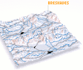 3d view of Breška Ves