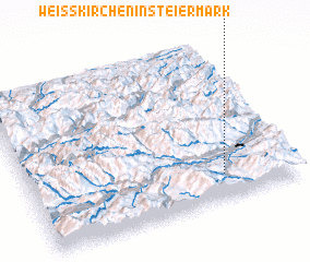 3d view of Weißkirchen in Steiermark