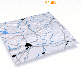 3d view of Šejby