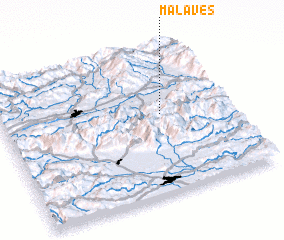 3d view of Mala Ves