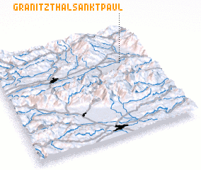 3d view of Granitzthal Sankt Paul