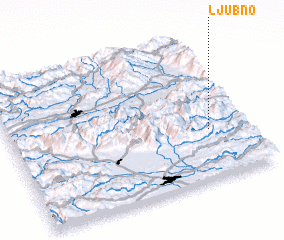3d view of Ljubno