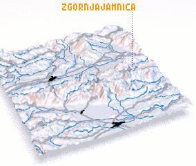 3d view of Zgornja Jamnica
