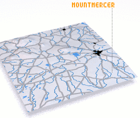 3d view of Mount Mercer