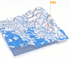 3d view of Pau