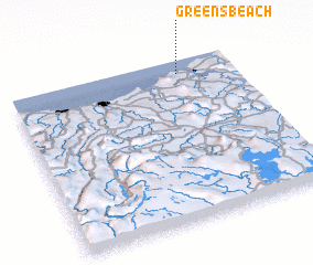 3d view of Greens Beach