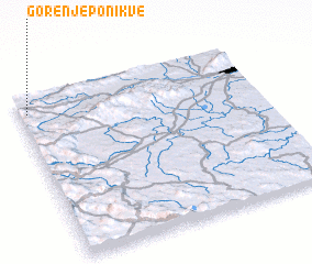 3d view of Gorenje Ponikve