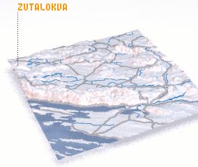3d view of Žuta Lokva