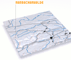 3d view of Marbach am Walde