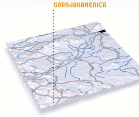 3d view of Gornja Kamenica