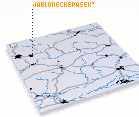 3d view of Jablonecké Paseky