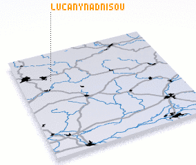 3d view of Lučany nad Nisou