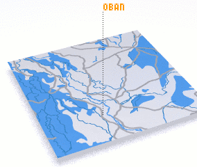 3d view of Oban