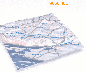 3d view of Jesenice