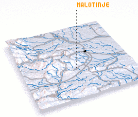 3d view of Malo Tinje