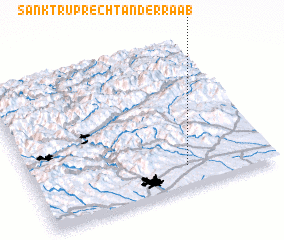 3d view of Sankt Ruprecht an der Raab