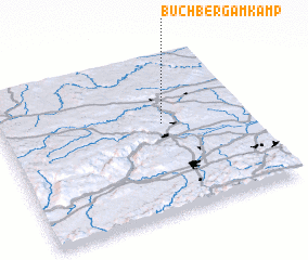 3d view of Buchberg am Kamp