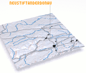 3d view of Neustift an der Donau