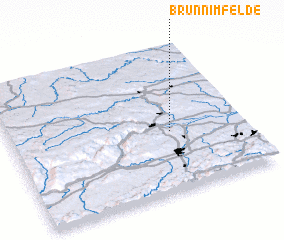 3d view of Brunn im Felde