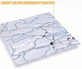3d view of Sankt Georgen an der Traisen