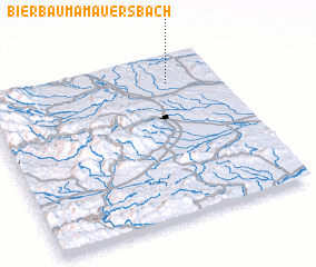 3d view of Bierbaum am Auersbach