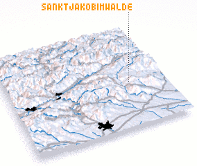 3d view of Sankt Jakob im Walde