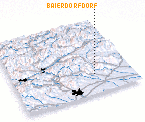 3d view of Baierdorf Dorf