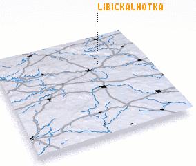 3d view of Libická Lhotka