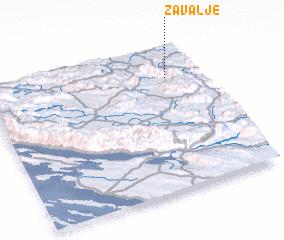 3d view of Zavalje
