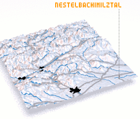 3d view of Nestelbach im Ilztal