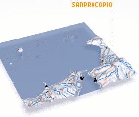 3d view of San Procopio