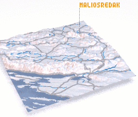 3d view of Mali Osredak
