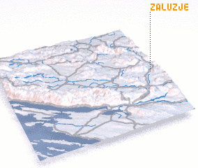 3d view of Zalužje