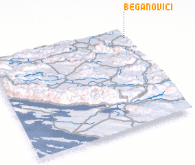 3d view of Beganovići