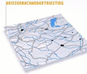 3d view of Weissenbach an der Triesting