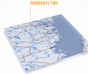3d view of Nedre Hyltan