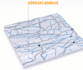 3d view of Gornje Ladanje