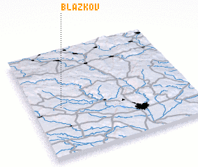 3d view of Blažkov