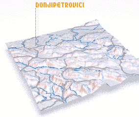 3d view of Donji Petrovići