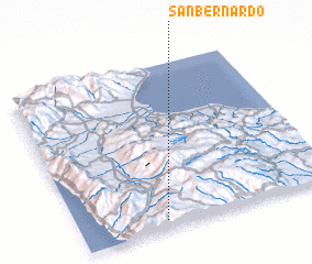 3d view of San Bernardo