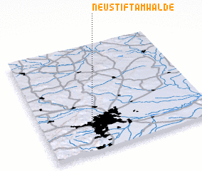 3d view of Neustift am Walde