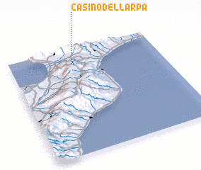 3d view of Casino dell'Arpa