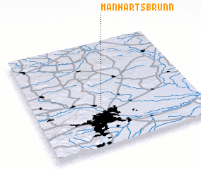 3d view of Manhartsbrunn