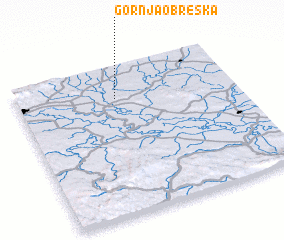 3d view of Gornja Obreška